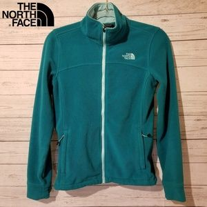 The North Face Women's Teal Fleece Jacket Full Zip